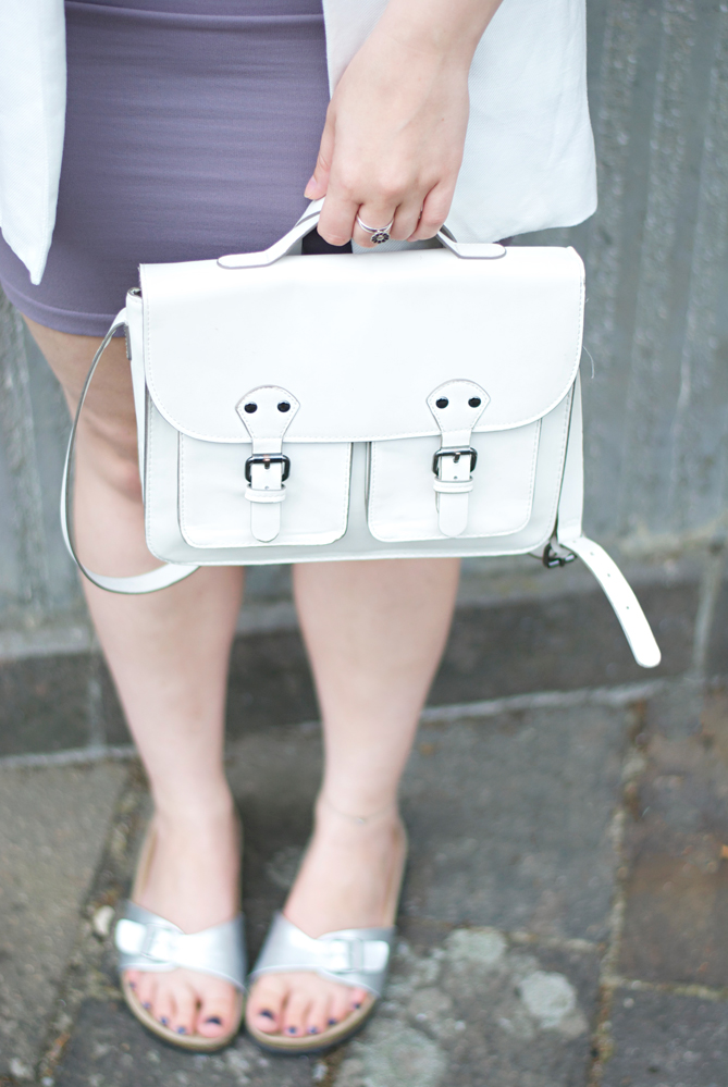 white satchel bag