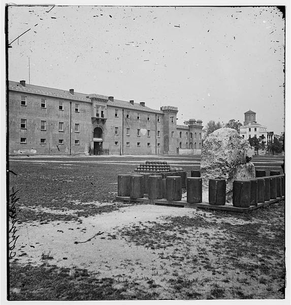 Old photo of Citadel and Francis Marion Square