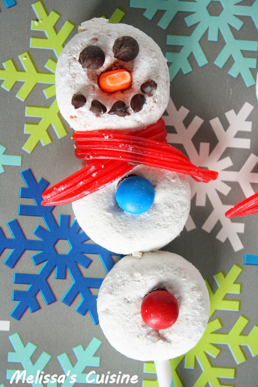 Melissa's Cuisine: Donut Snowmen