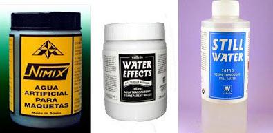 compuesto para lograr efecto de agua en una maqueta
