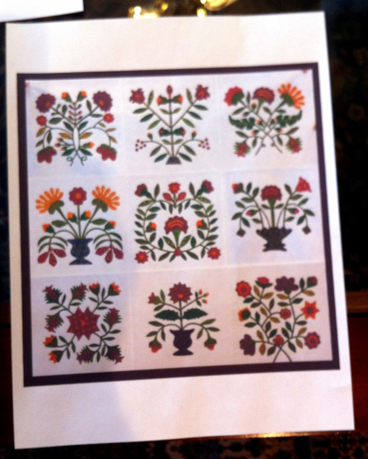 Calico Floral Print Peek-A-Boo Iron On Patches by Holey Patches 2-5 x 5