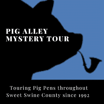 Pig Alley Mystery Tour plans to visit all the pig farms in Sweet Swine County