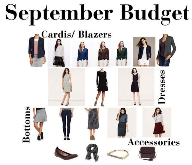 September Wardrobe Budget