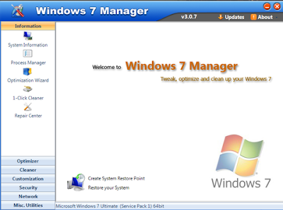Yamicsoft Windows 7 Manager v3
