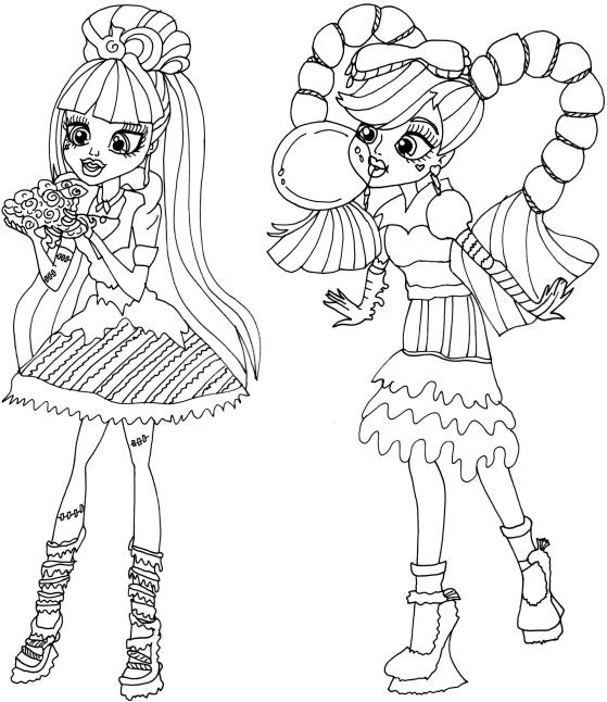 free printable monster high coloring pages: sweet screams monster ... - Coloring Pages Monster High Dolls