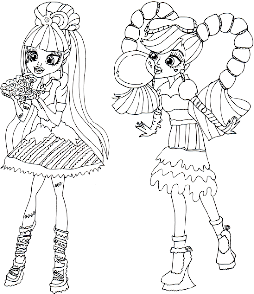 Sweet Screams Monster High Coloring Pages