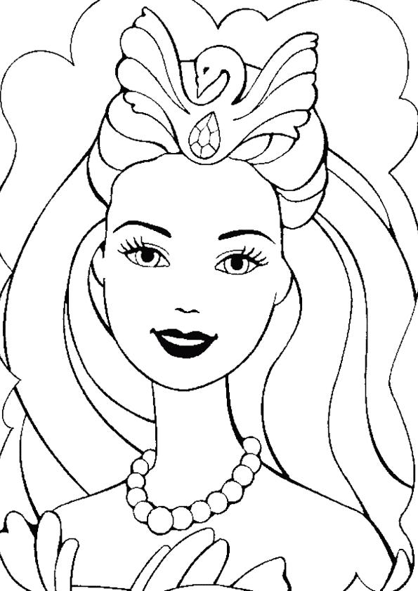 Dibujo de cara de barbie para colorear | Dibujos para colorear