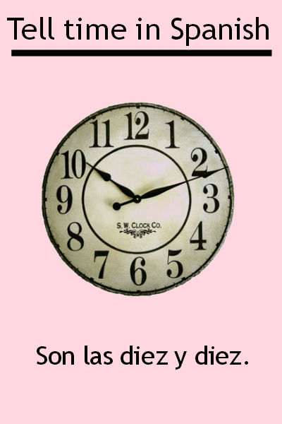 Learn how to tell the time in Spanish. Visit www.soeasyspanish.com