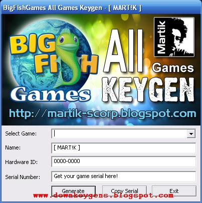 BigFishGames All Games Keygen. big fish games with crack.