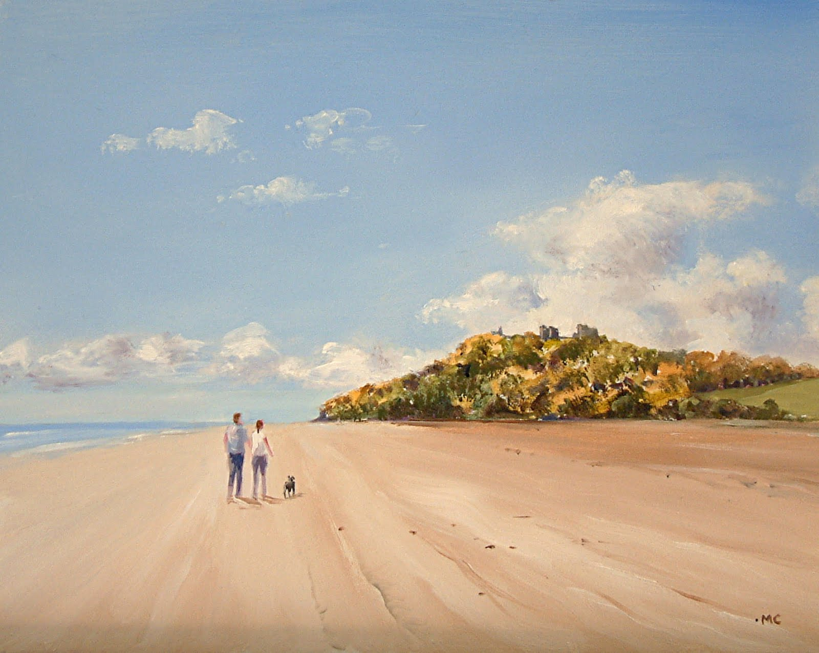 Walking the dog on Llansteffan Beach £175
