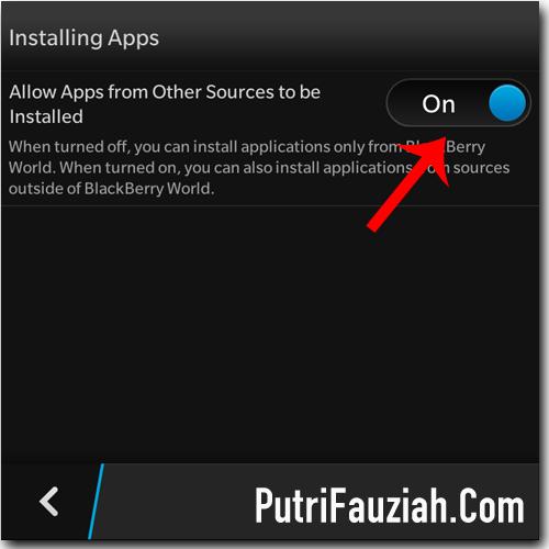 Cara instal di blackberry