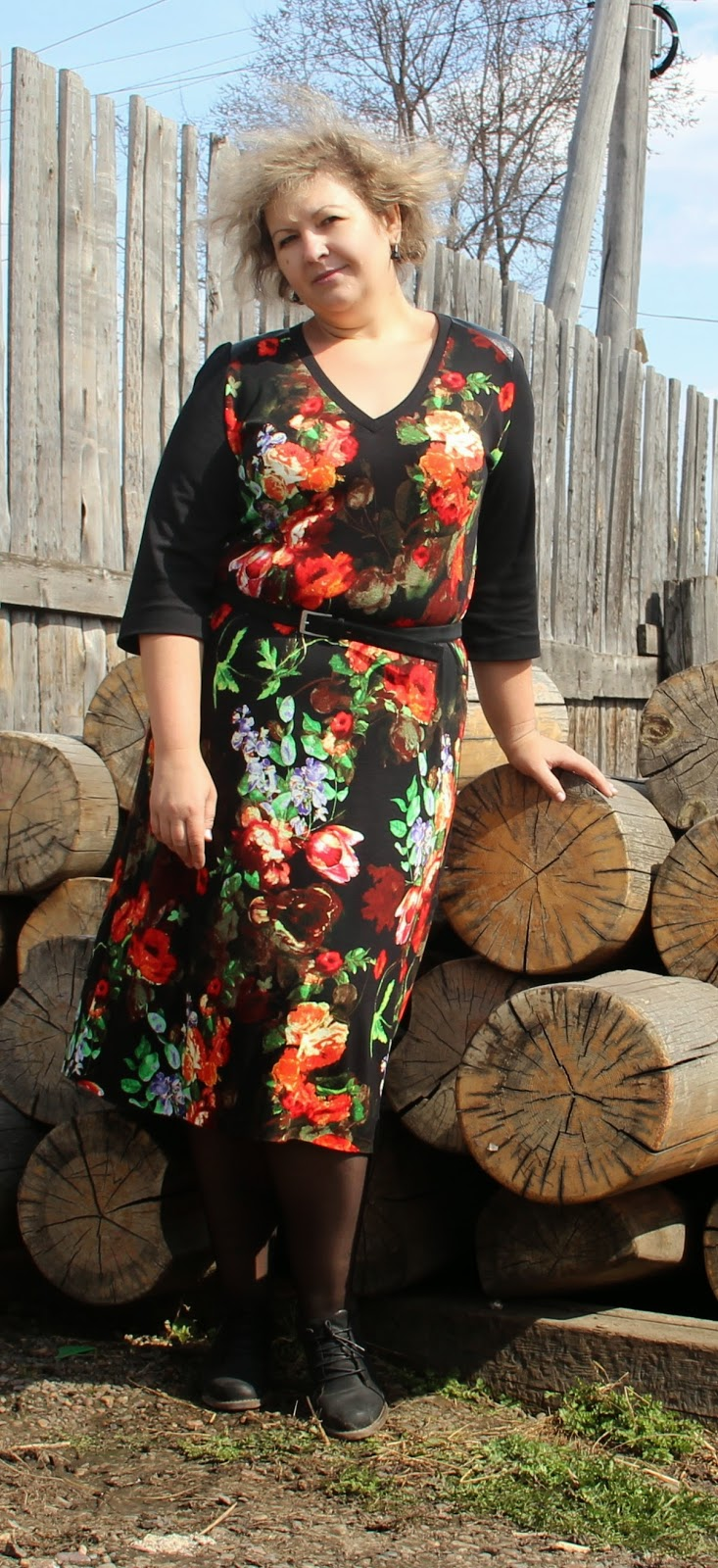 платье на полную даму из Бурды