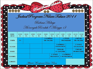 JADUAL PROGRAM NILAM