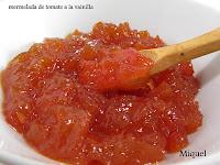 Mermelada de tomate al perfume de la vainilla