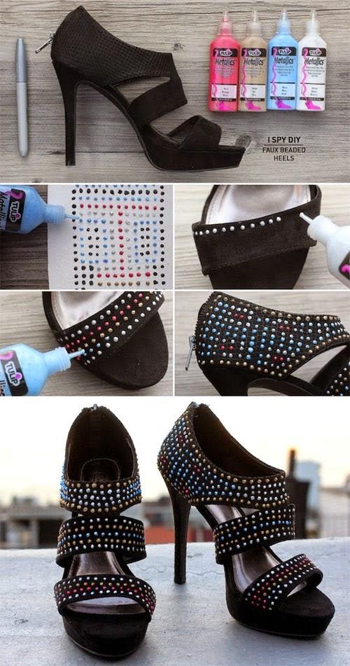 Customizar sandálias com tinta dimensional
