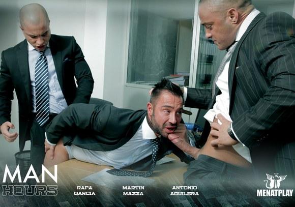 Rafa Garcia Antonio Aguilera Martin Mazza Men At Play Man Hours Gay