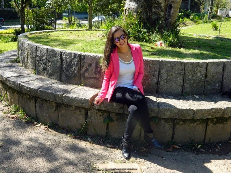 look blazer rosa