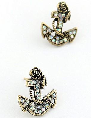 Gold Anchor Earrings8