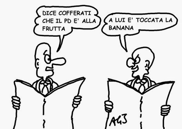 PD, scissione, cofferati, satira, vignetta