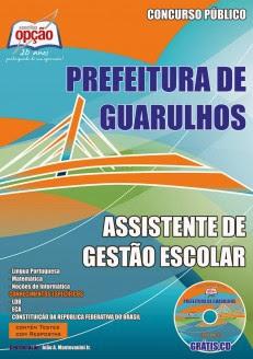 Apostila Prefeitura de Guarulhos Completa Grátis CD/ROM