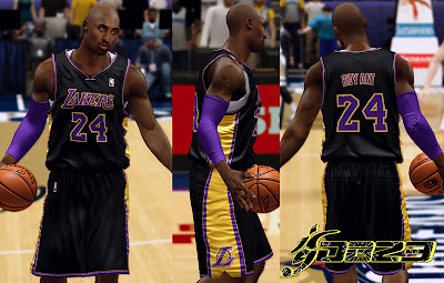 NBA 2K13 LA Lakers Black Alternate Jersey Mod