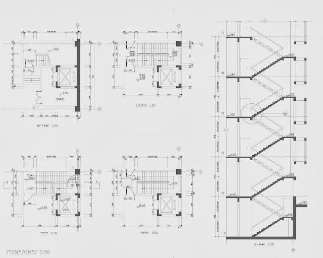 ascenseurs et cages d 39 escalier diff rentes typologies fichier autocad t l charger journal3. Black Bedroom Furniture Sets. Home Design Ideas