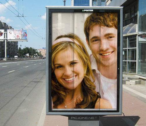Montagem de fotos em outdoor