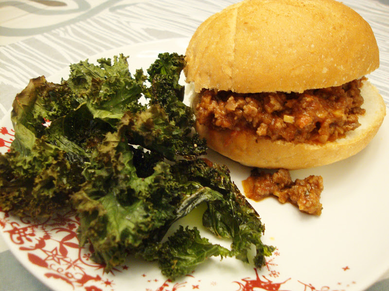 sloppy joes with kale chips