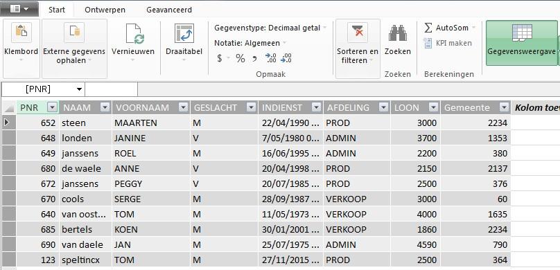 Tips voor Excel: PowerPivot - Excel-tabellen Importeren