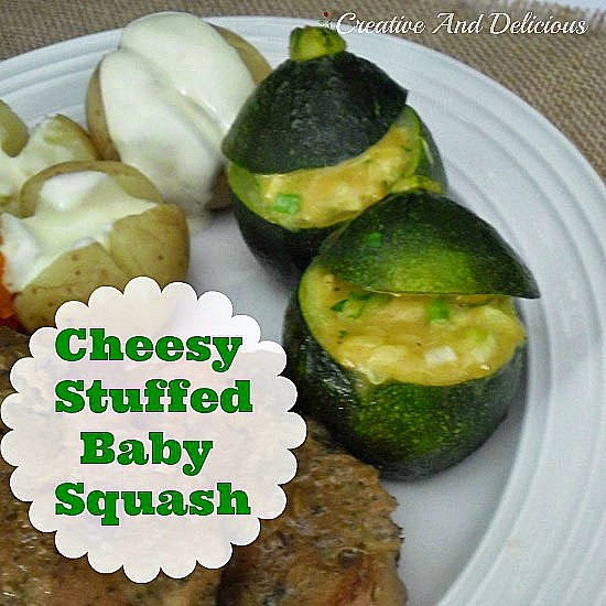 Cheesy Stuffed Baby Squash ~ delicious side dish