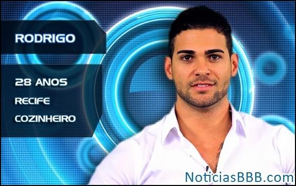 Participante no paredão BBB14 - Votar no Rodrigo