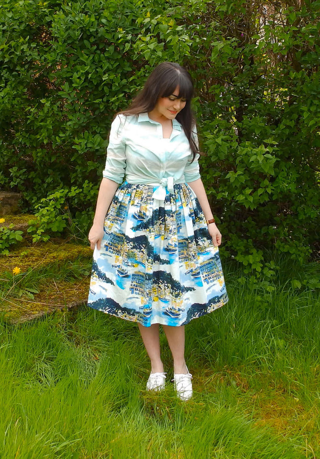 Sandy in a seaside print with george at asda the style rawr for George at asda wedding dresses
