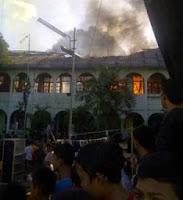 Foto Pesantren IMMIM Putra Makassar Terbakar