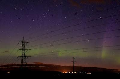 Auroras boreales, Escocia, 09 de Mayo de 2012