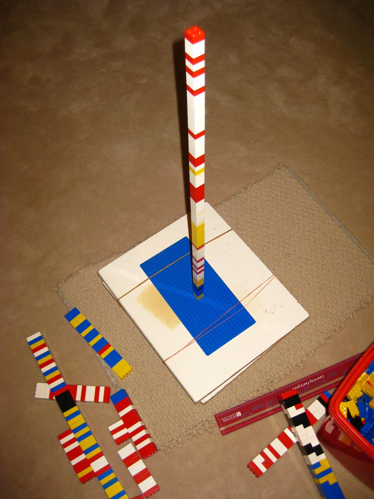 swinging monkey flying pig  lego skyscraper vs  earthquake