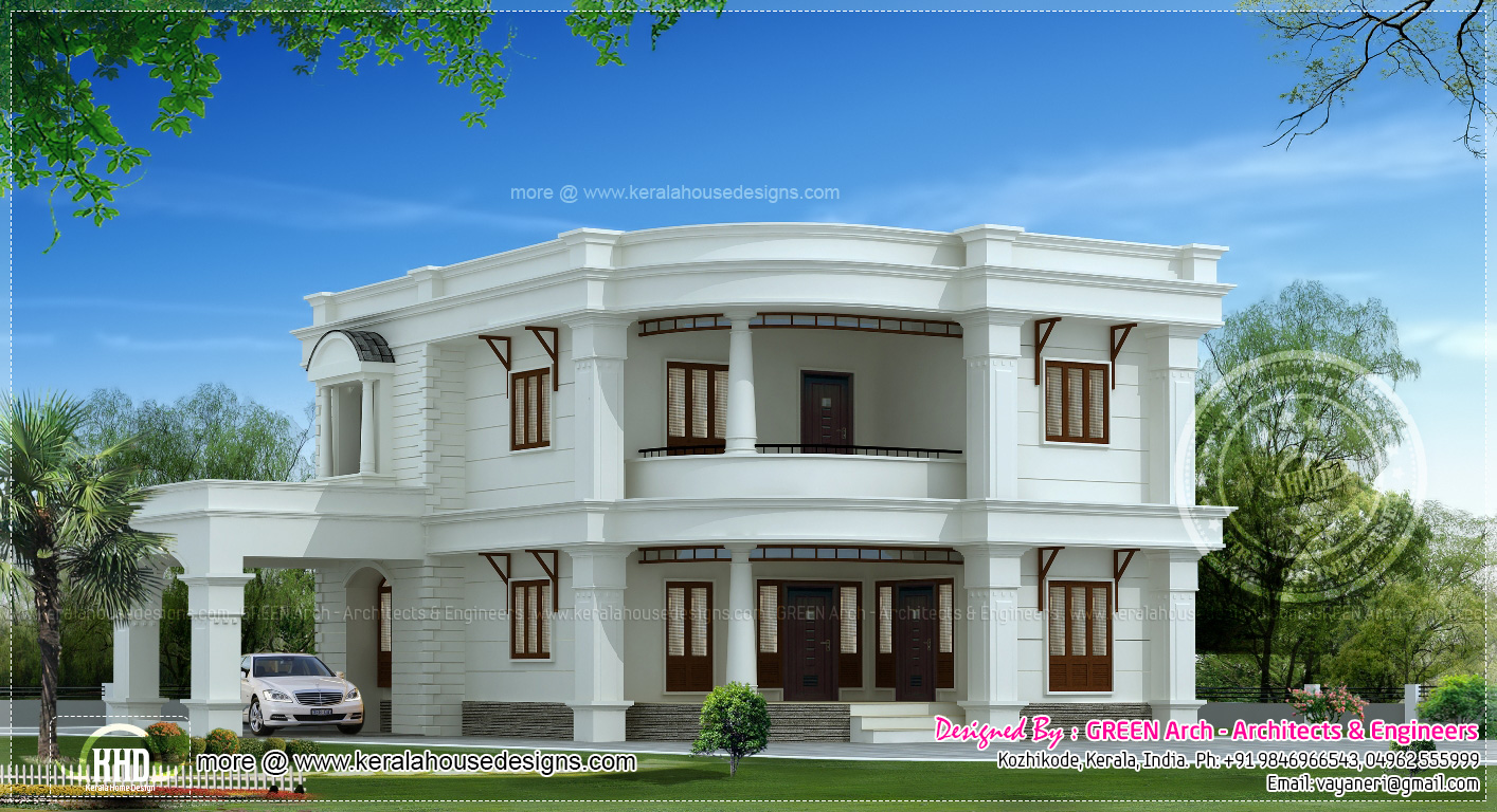 241 square meter modern mix home design kerala home for Square house design