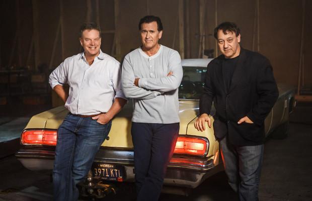 Sam Raimi, Rob Tapert e Bruce Campbell