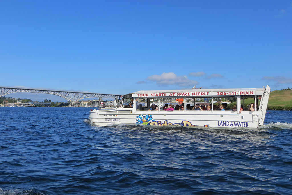 Ride the Ducks in Lake Union