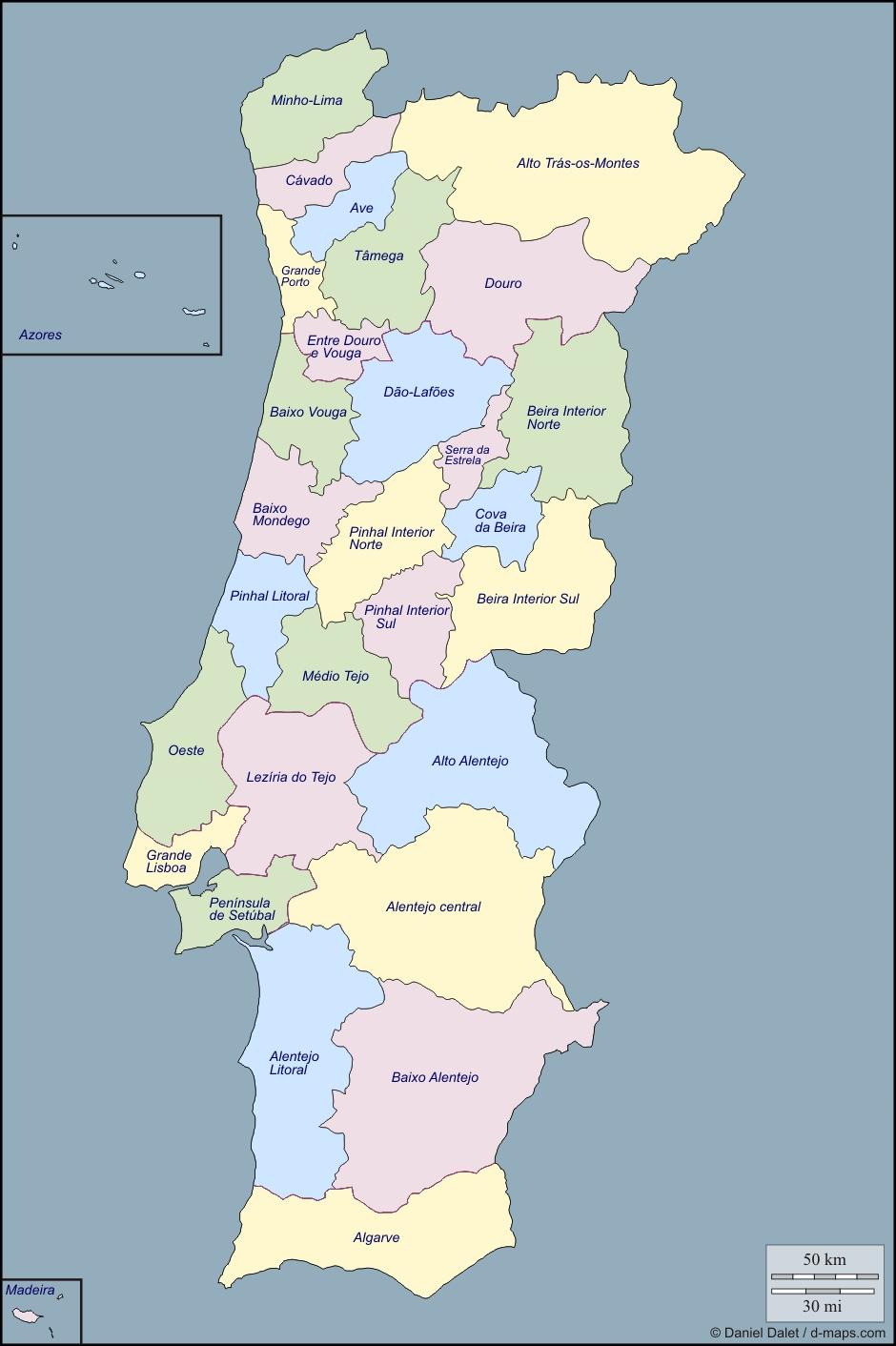 División política de portugal