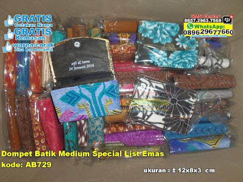 Dompet Batik Medium Special List Emas murah