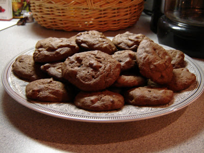 The Twelve Days of Christmas Cookies: Chocolate Chocolate Peanut Butter Chip Cookies