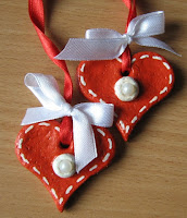 валентинки из солёного теста