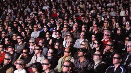 Audience for 3D movie