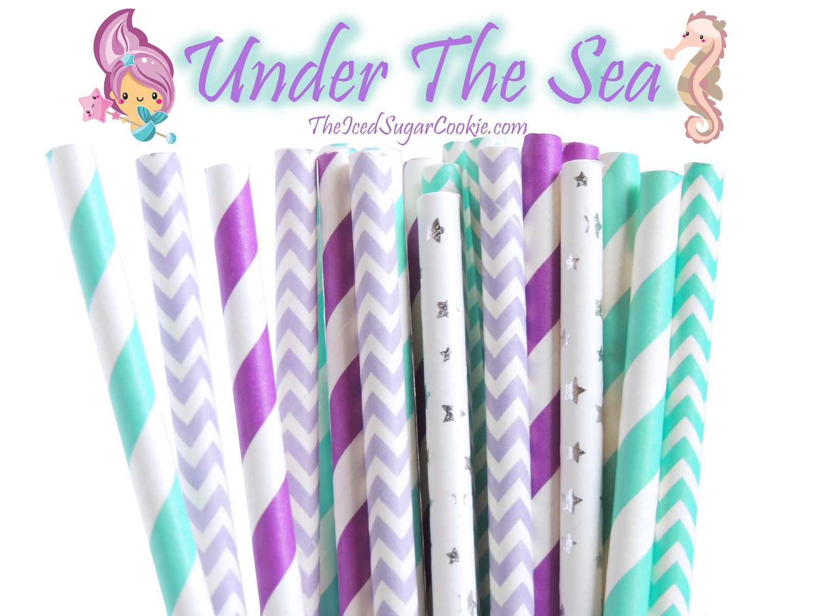 "Mermaid ""Under The Sea"" Paper Straws"