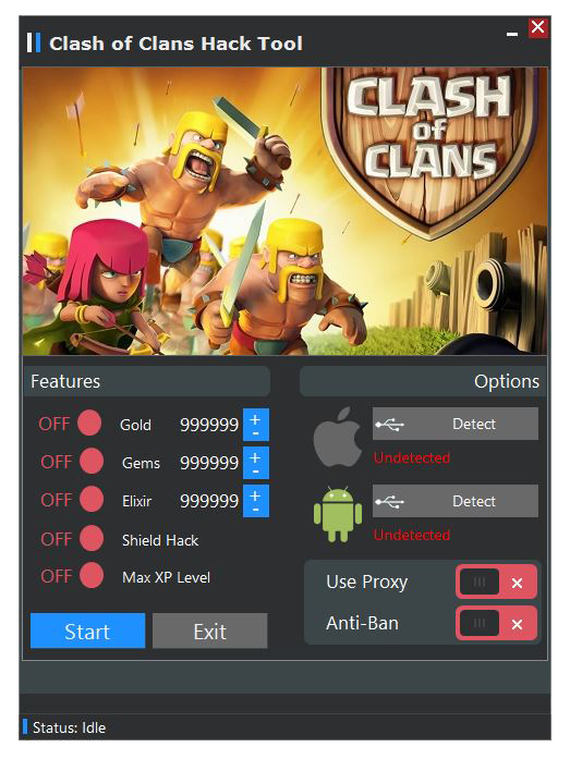 Android - Kody: Kody do Clash of Clans [Android][Tablet] cheat 2014