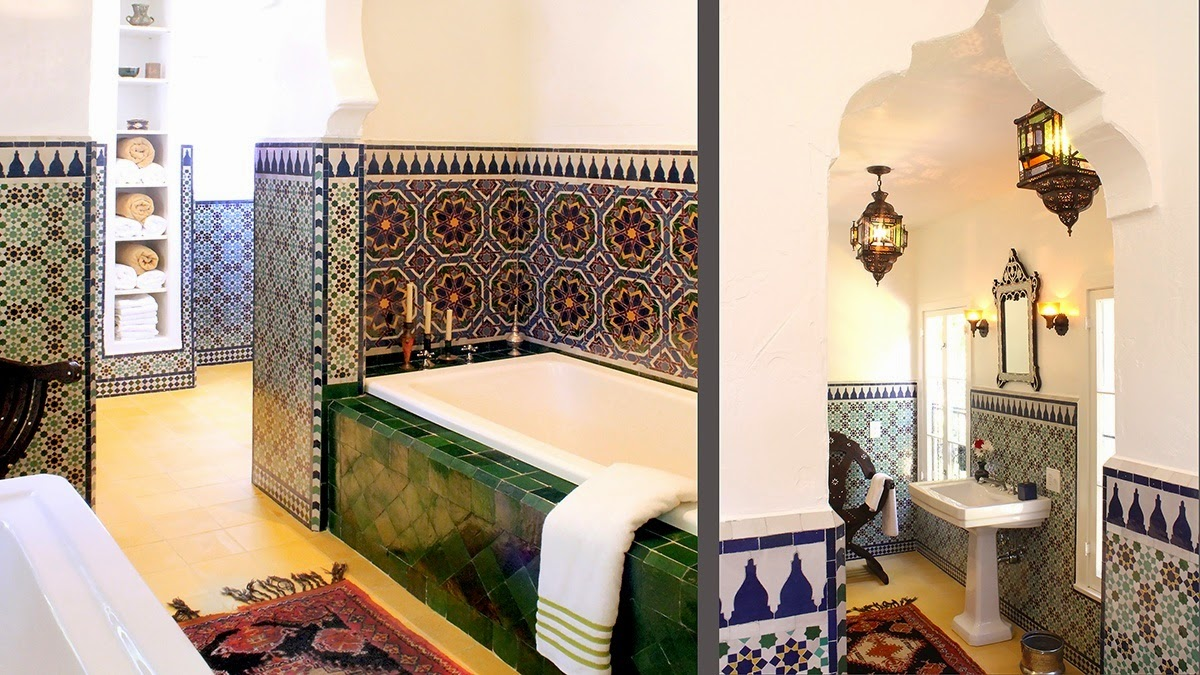 Modern moroccan bathroom - What Are The Various Styles Of Floor Tiles