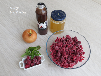 Salsa de frambuesas - Ingredientes