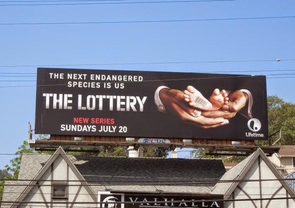 The Lottery season 1 Lifetime billboard