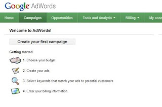 how to advertise in Google AdWords