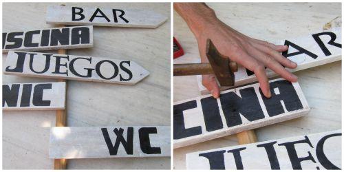 Paso a paso Carteles de madera